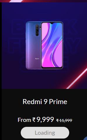 Xiaomi India Black Friday sale