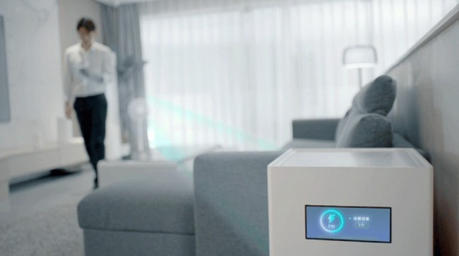 Xiaomi says its 'Air Charge' technology works over several meters from across the room