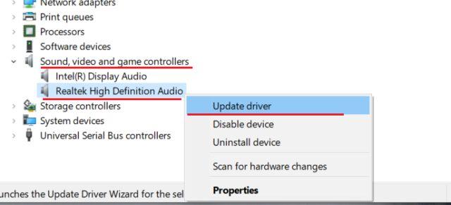 update sound driver