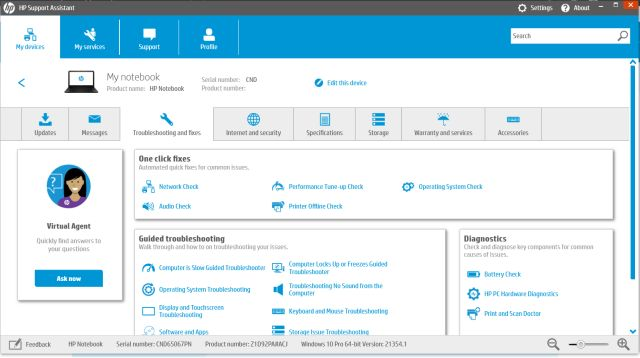 hp assistant support